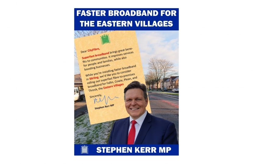 Stephen Supports CityFibre for the Eastern Villages